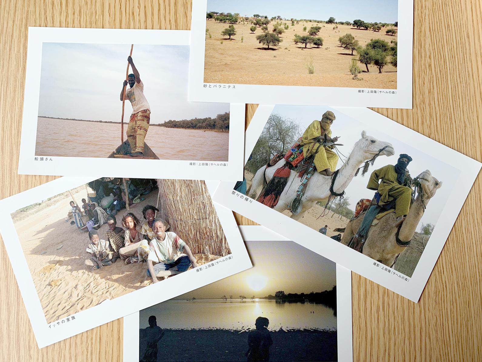 サヘル地域の写真で作ったオリジナルポストカード